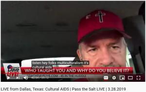 "Daubenmire comparing ""multiculturalism"" to AIDS"