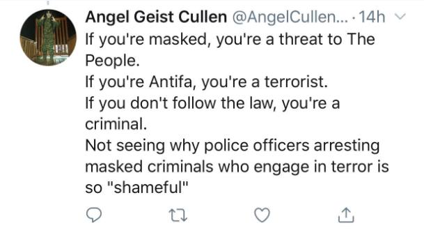 masked threat