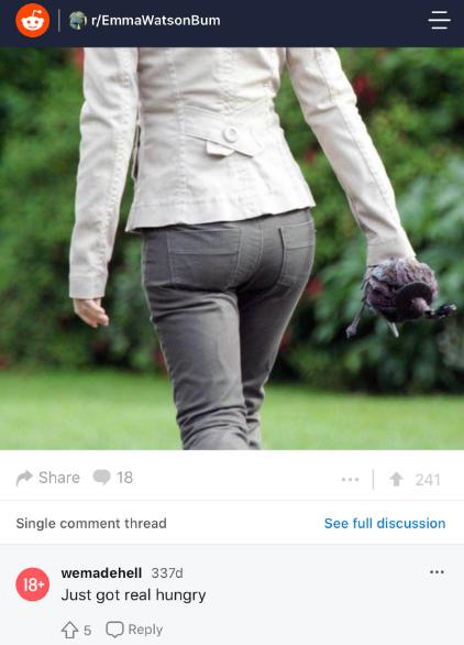 Emma watson bum