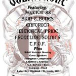 "Volksfront music festival flyer advertising Paul's former band ""Immortal Pride"""